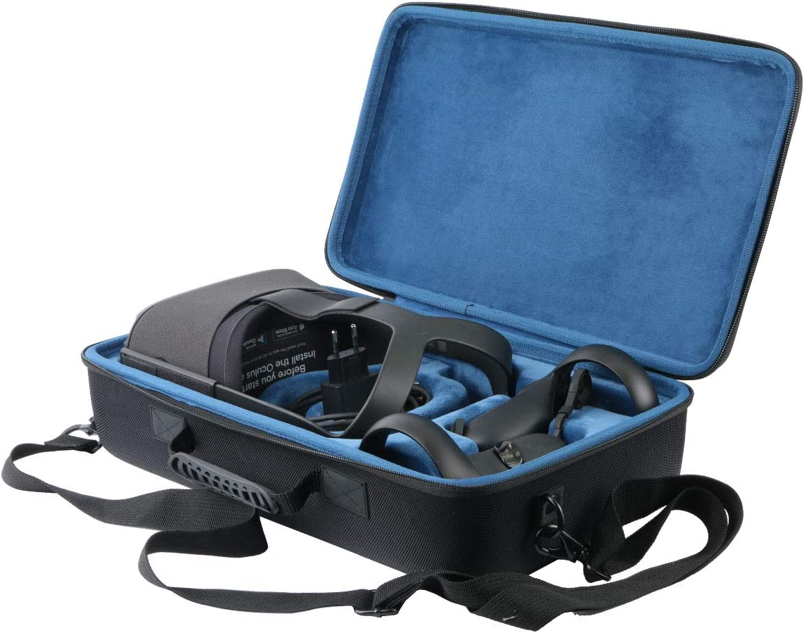 Khanka Hard Travel Case Replacement for Oculus Quest All-in-one VR Gaming Headset (Inside Blue)