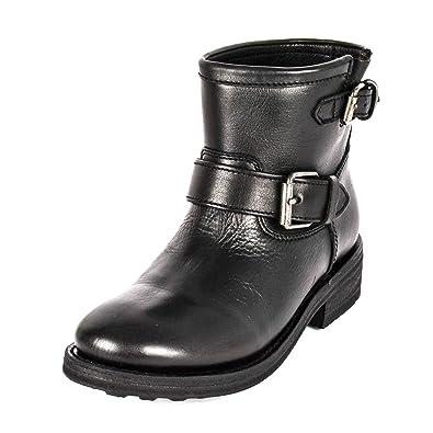 6d6d7a40e868e9 Ash Footwear Trick Bottes Femme en Cuir Noir: Amazon.fr: Chaussures ...