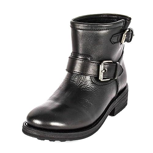 559e39f89e Ash Footwear Trick Stivali da Donna in Pelle Nera: Amazon.it: Scarpe ...