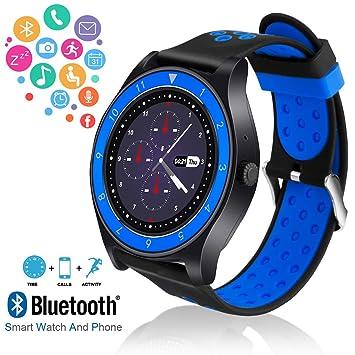 Reloj Inteligente, Hombre Smartwatch Hombre con Cámara Pantalla Táctil Ranura para Tarjeta SIM Smart Watch Android Teléfonos Inteligentes para Samsung ...