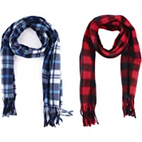 Ramanta Combo of Men's Women's Casual Soft and Warm Woolen Mufflers for Winter (Assorted Colors, Set of 2)