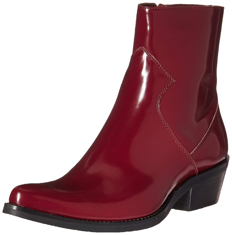 CK Jeans Men's Alden Box Calf Fashion Stiefel, Dark Burgundy, 10.5 M US -