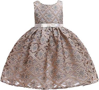 Amazon.com: Vestido de fiesta de Navidad para niñas pequeñas ...