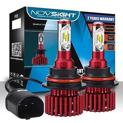 - 2 Year Warranty 3000K 6500K 8000K 60W 10000LM NOVSIGHT H7 LED Headlight Bulbs