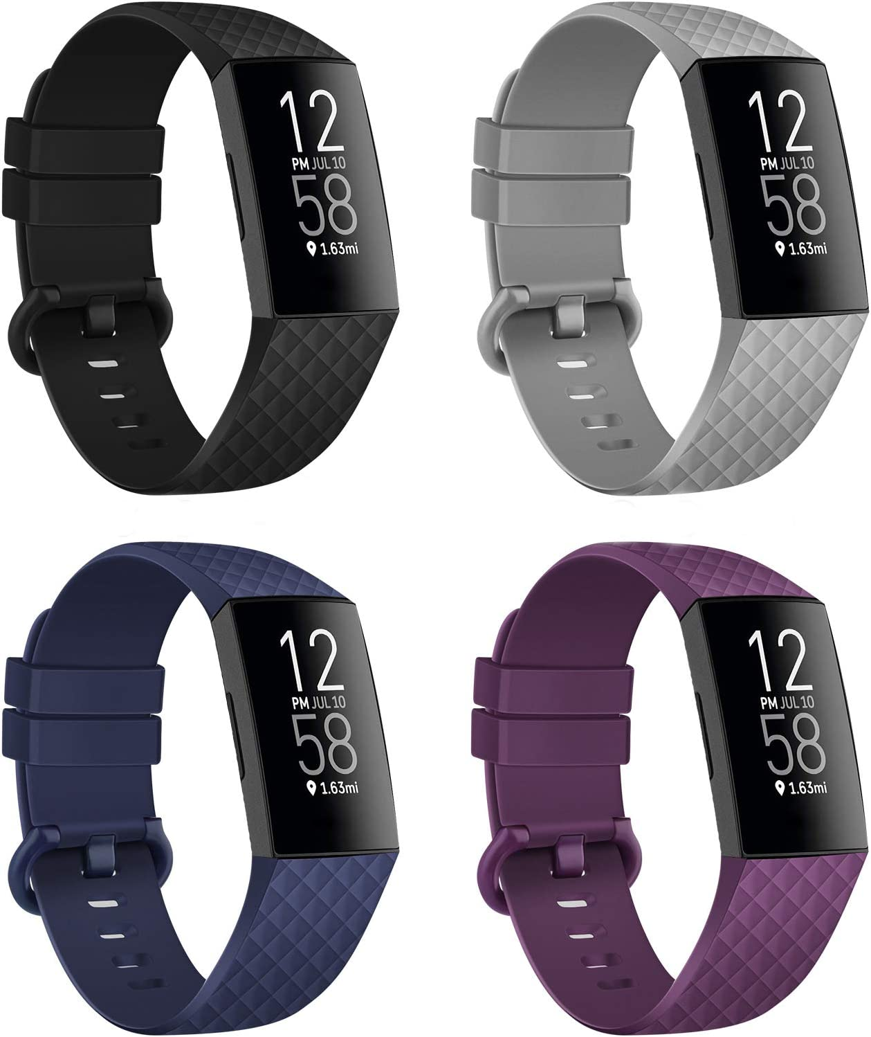 For Fitbit Charge 3 4 SE Band Replacement Silicon Strap Wristband Small Large