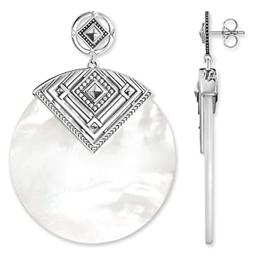 93ef1a982 Thomas Sabo Africa Triangle Mother-of-Pearl Stud Earrings H1932-363-14:  Amazon.co.uk: Jewellery