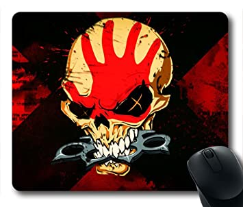 gaming mouse pad five finger death punch skull personalized