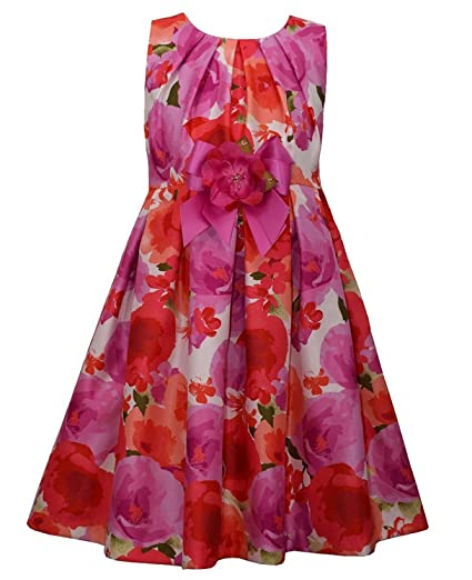 d189bb750e7 Amazon.com  Bonnie Jean Girls Floral Shantung Dress  Clothing