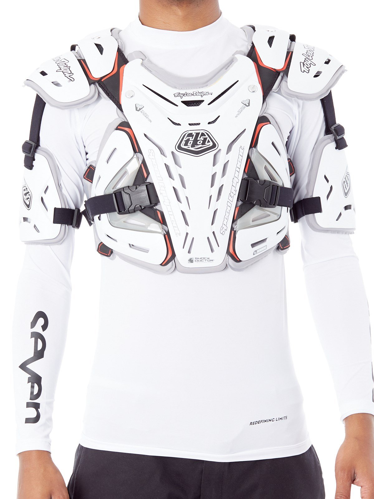 Troy Lee Designs 5955 Chest Body Guard-White-L by Troy Lee Designs (Image #2)