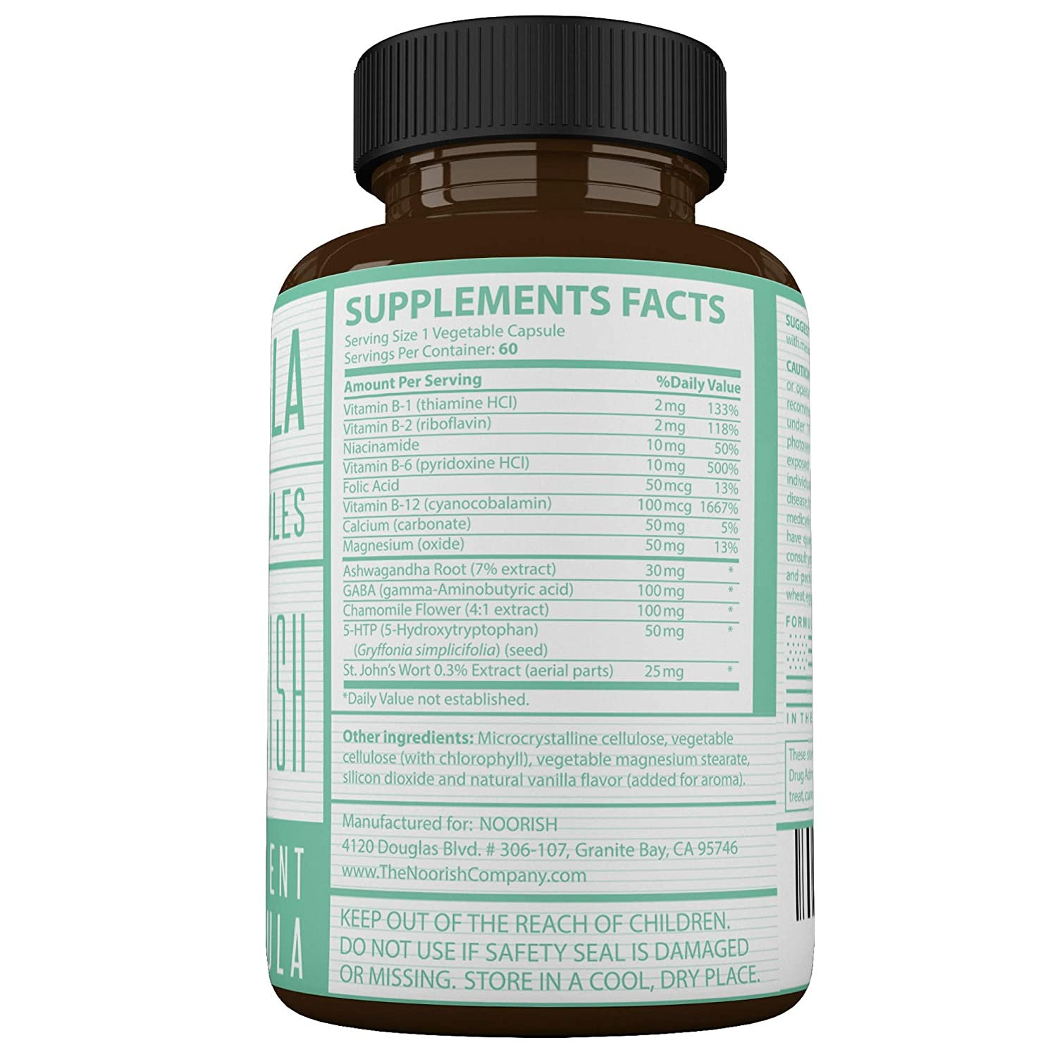 Amazon.com: Mood Enhancer - Mood Stabilizer - Mood Support Supplement with Ashwagandha, GABA, 5-HTP, Chamomile, and St. Johns Wort.