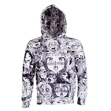 Nieface Anime Ahegao Funny 3D All Over Print Hoodies Joggers Hipster Sweatshirts Set