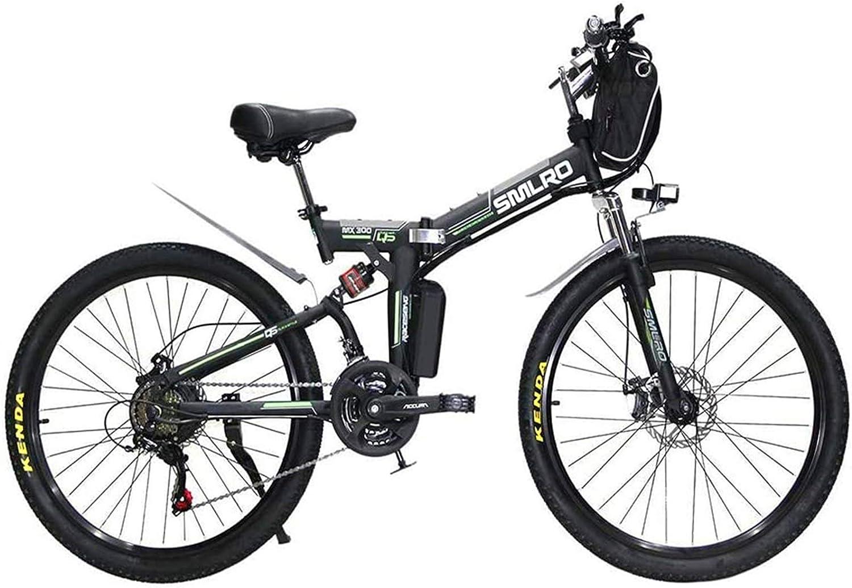 Bicicletas Eléctricas, 26 pulgadas Bicicletas eléctricas bicicleta de la bici, la bolsa de 48V / 13A / 350W colgantes de suspensión for bicicleta plegable completo Doble freno de disco ,Bicicleta