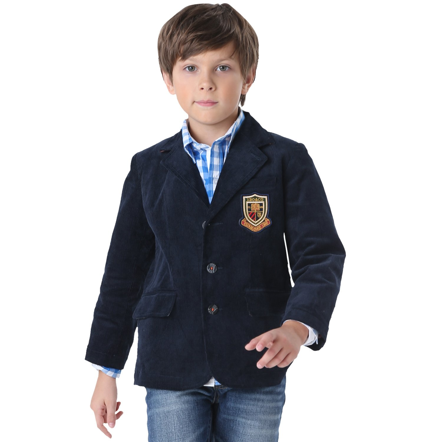 Leo& Lily Big Boys' LLB1102 LLB1102-5-Navy-$P