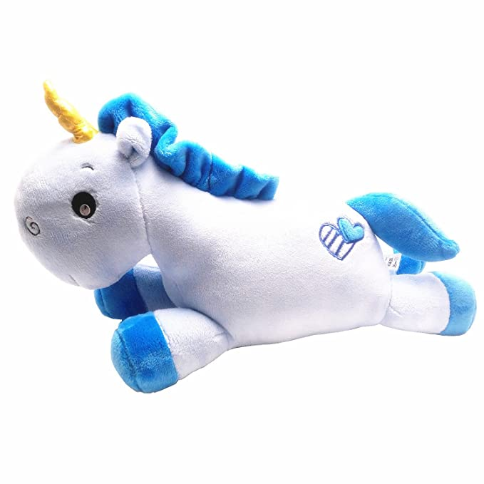 Amazon.com: Kenmont Soft Unicorn Stuffed Plush Toys Pillow Cushion, Blue: Toys & Games