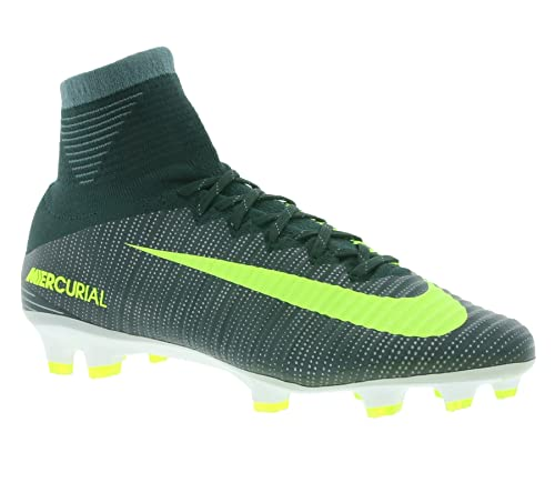 3eac0bb30a4 Nike Mercurial Superfly V CR7 FG 852511-376 Seaweed Volt White Men Soccer  Cleats (size 10.5)  Amazon.ca  Shoes   Handbags