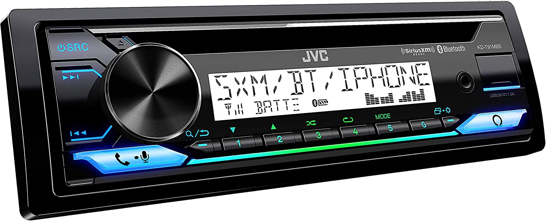 JVC KD-T91MBS Marine Receiver with CD Bluetooth USB Conformal Coated PCB SiriusXM Ready Alexa