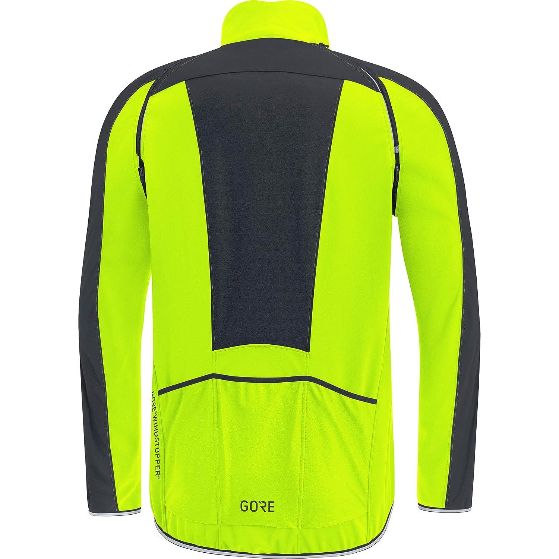 Neon Yellow//Black GORE Wear C3 Mens GORE WINDSTOPPER Zip-Off Jacket M
