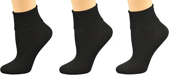 Ladies  Diabetic Socks Ribbed 100/% Cotton Luxury Soft  B00t Sizes 4-7