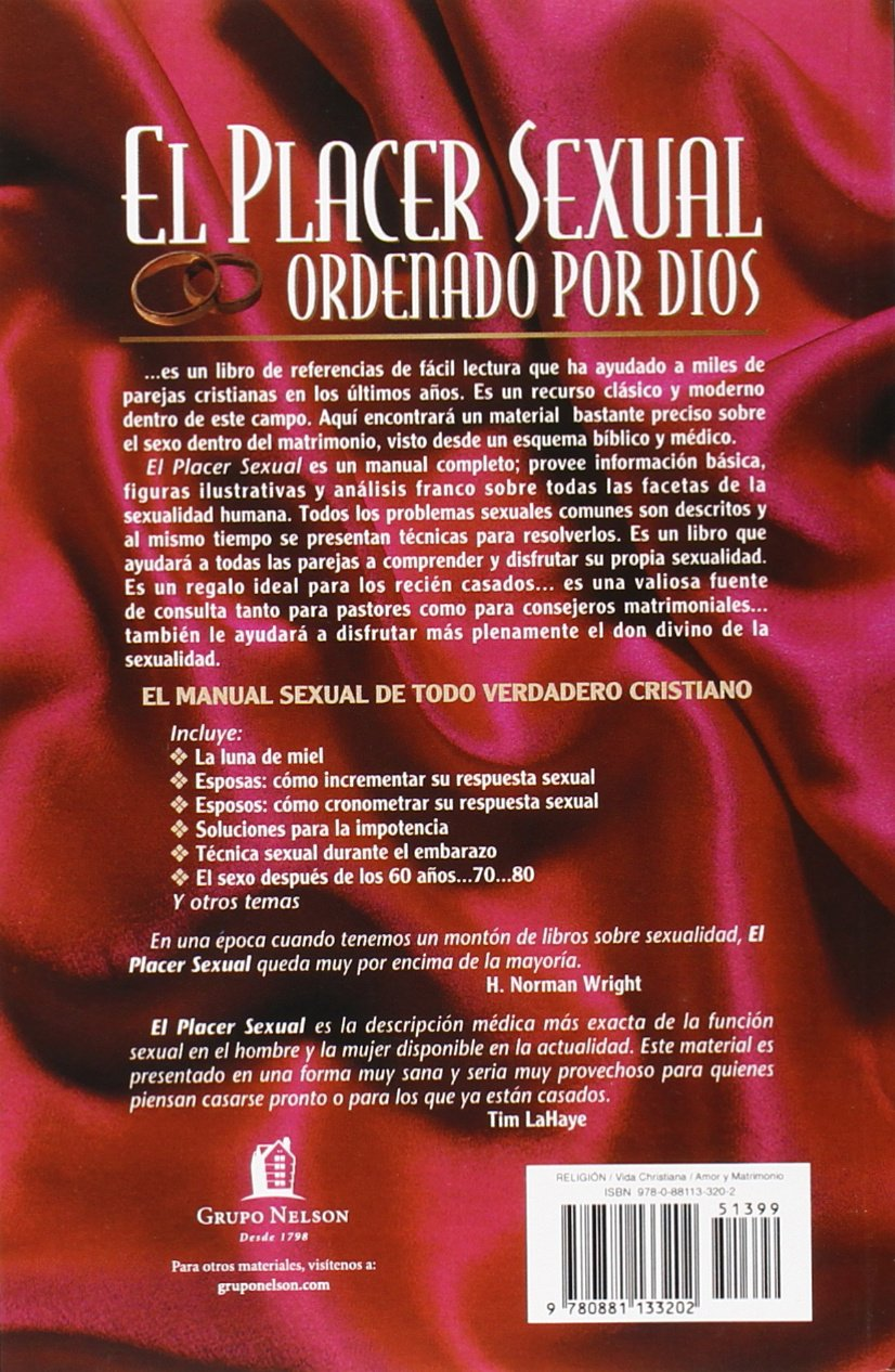 El placer sexual ordenado por dios ed wheat 9780881133202 amazon com books