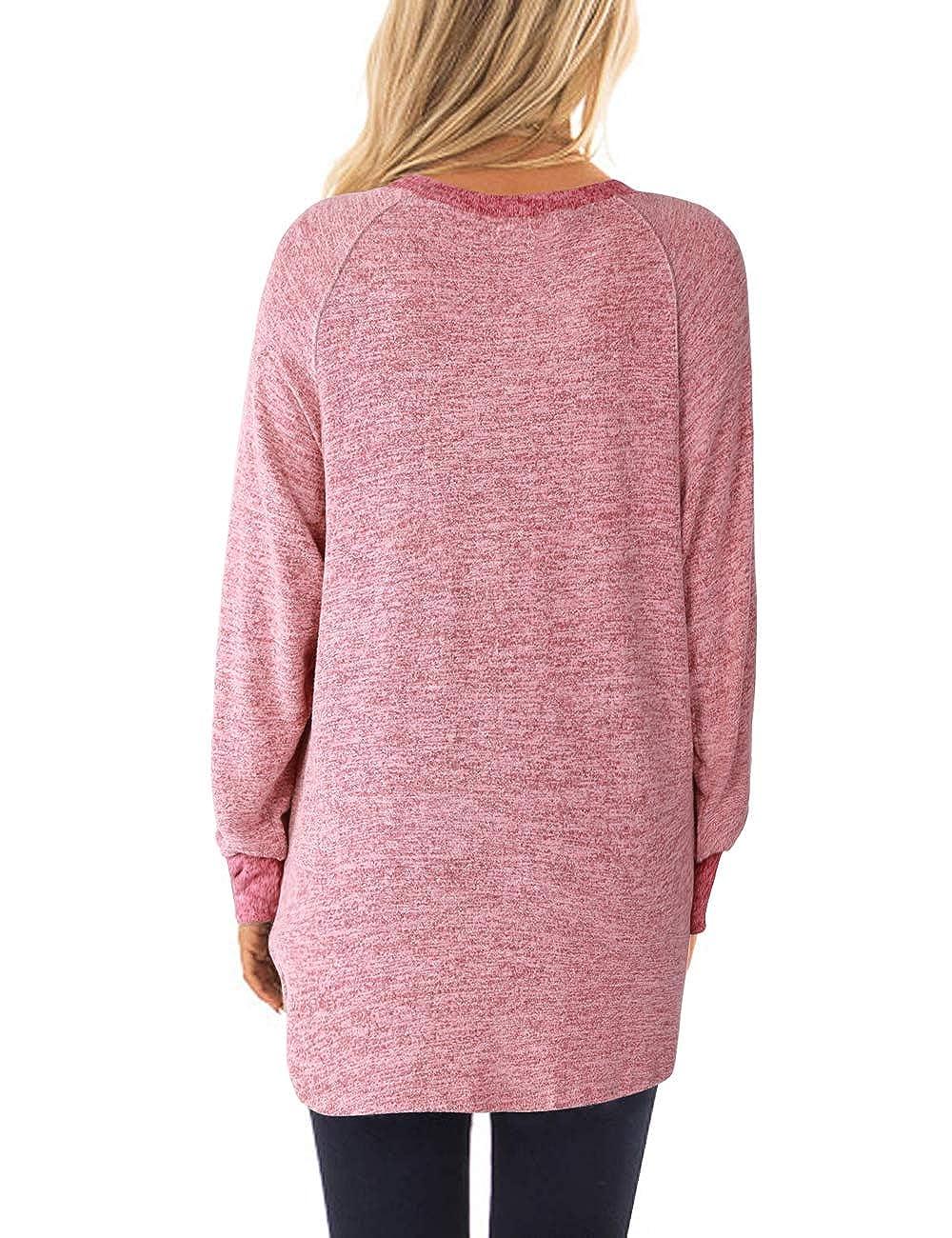 Maglia da donna in cotone leggera DJT Fashion a blocchi di colore