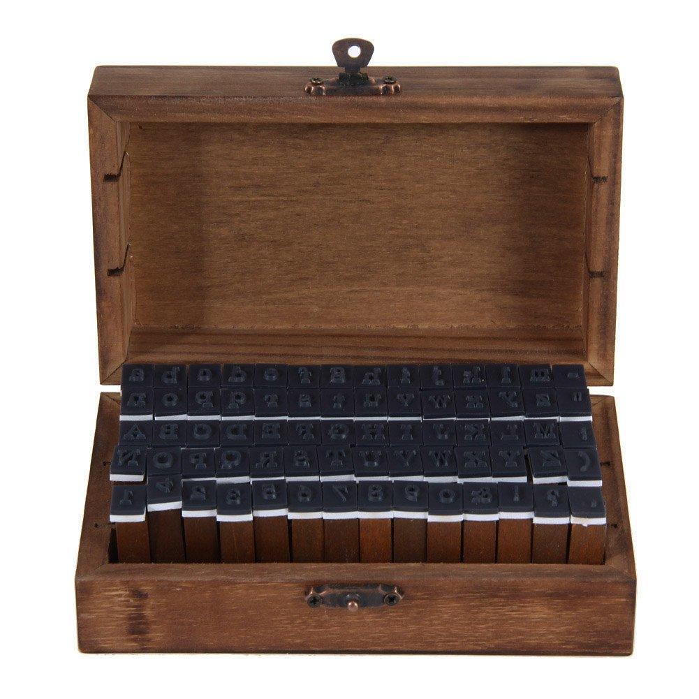 Amazon.de: Alphabet Stempel - 70-tlgs. Buchstabenstempel Set ...