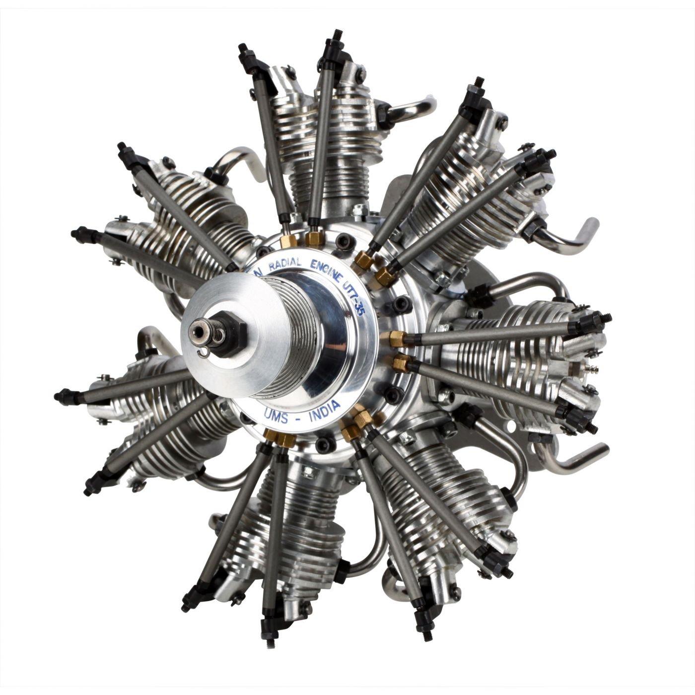 Evolution Radial 4-Takt Glühzünder Verbrenner 7-Zylinder 35cc