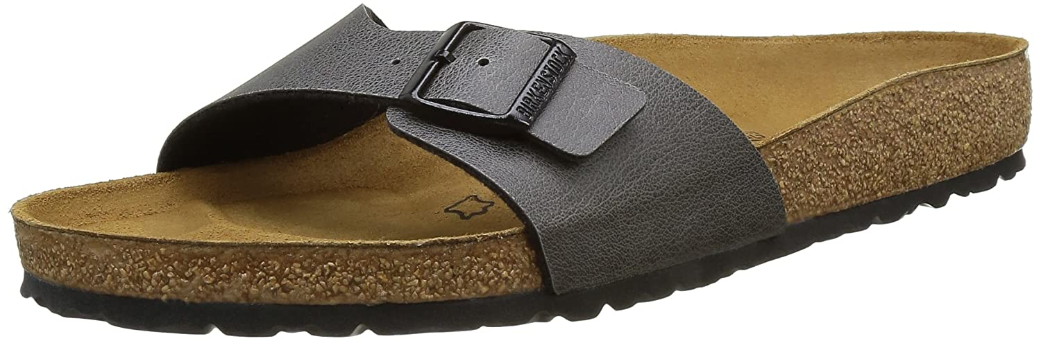 Birkenstock Madrid, Zuecos para Hombre 40 EU Gris (Pull Up Anthracite Pull Up Anthracite)