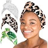 Kitsch Microfiber Hair Towel Wrap for Women, Hair Turban for Drying Wet Hair, Easy Twist Hair Towels, Super Absorbent and Ult