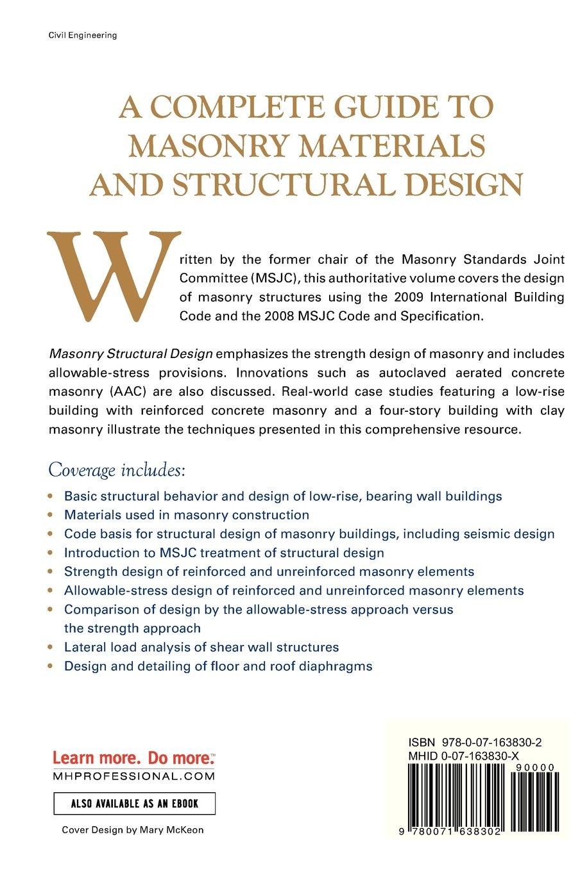 Masonry Structural Design