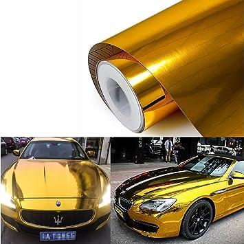 VViViD Gold Gloss Metallic Pearl Vinyl Wrap 20ft x 5ft DIY Adhesive Decal Roll