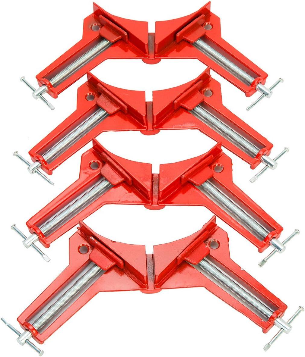 Pinces /à Angle Droit pour Travail du Bois Fixation Rapide du Cadre de Photo Colliers de Coin Menuiserie Clip de Serrage /à Angle Droit XIAOXIAO 4pcs 90 Degr/és /à Angle Droit Pince