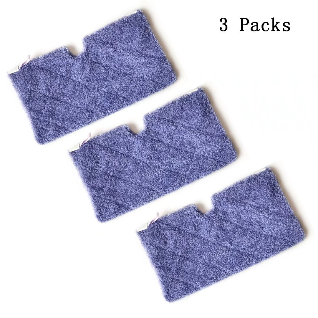 ANBOO Washable Microfiber Mop Pads Cleaning Pads Replacement for Shark Steam Pocket Mops S3500 series, S3501, S3601, S3550, S3901, S3801, SE450, Purple