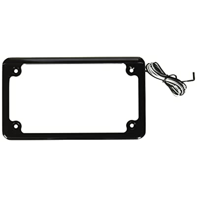 Custom Dynamics LPF-HRZ-B-LP License Plate Frame (Flat-Style Black ): Automotive