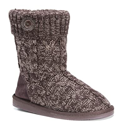 MUK LUKS Women's Knit Slouchy ... Bootie Slippers genuine cheap price outlet get to buy UXpmrcjeU