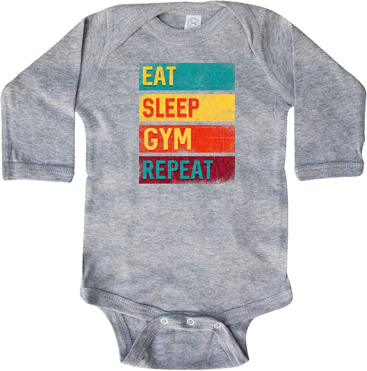 inktastic Fitness Eat Sleep Gym Repeat Long Sleeve Creeper