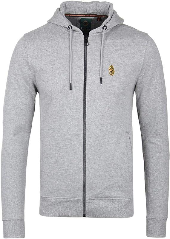 LUKE 1977 Kevlarge Charcoal Hooded Zip Through Sweatshirt