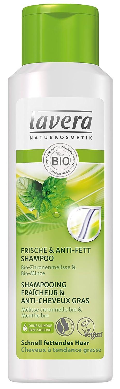 lavera Shampooing Fraîcheur & Anti-Cheveux Gras - Vegan - Cosmétiques naturels - Ingrédients végétaux bio - 100% naturel 250 ml 108157