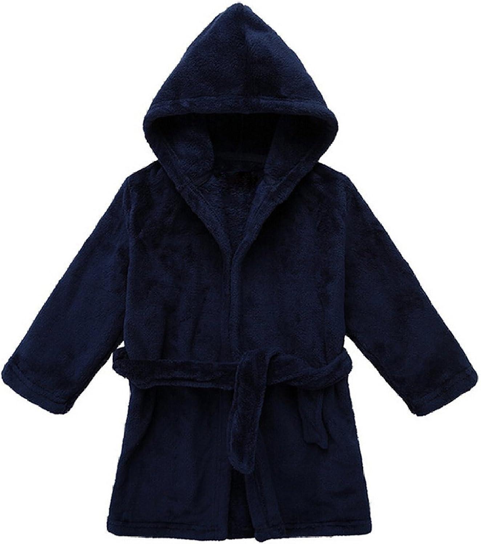 B01A895YH6 Yanzi6 Unisex-Baby Winter Soft Soft Coral Fleece Flush Hooded Bath Robe 71OtlrIz2%2BL