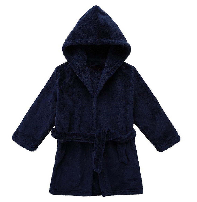 LOSORN ZPY Toddler Unisex Baby Robe Hooded Fleece Bathrobe Towel Kids 9-36 Month LZ-TZ-31