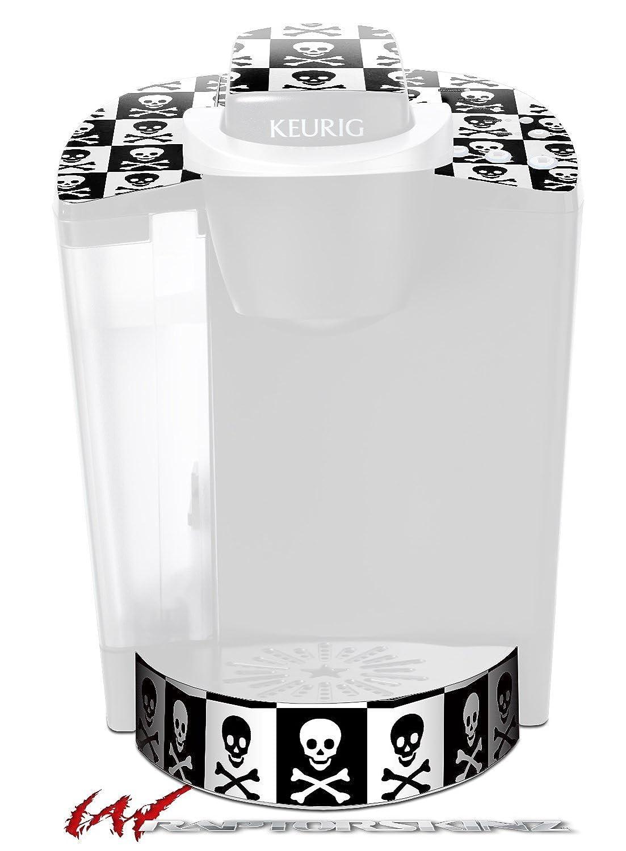 スカルチェッカーボード – デカールスタイルビニールスキンFits Keurig k40 Eliteコーヒーメーカー( Keurig Not Included )   B017AKBIH6
