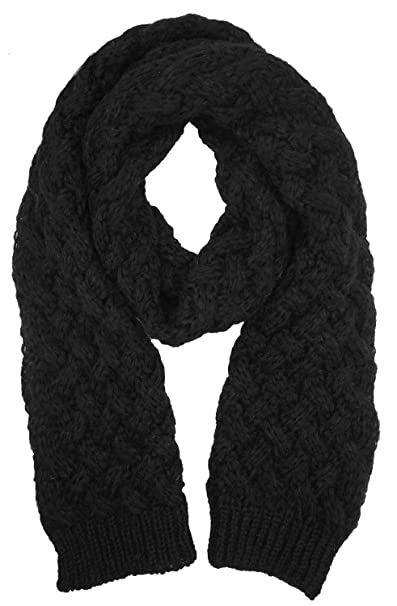 Bellady Long Knitted Twist Shoulder Scarf Winter Thick Warm Shawl