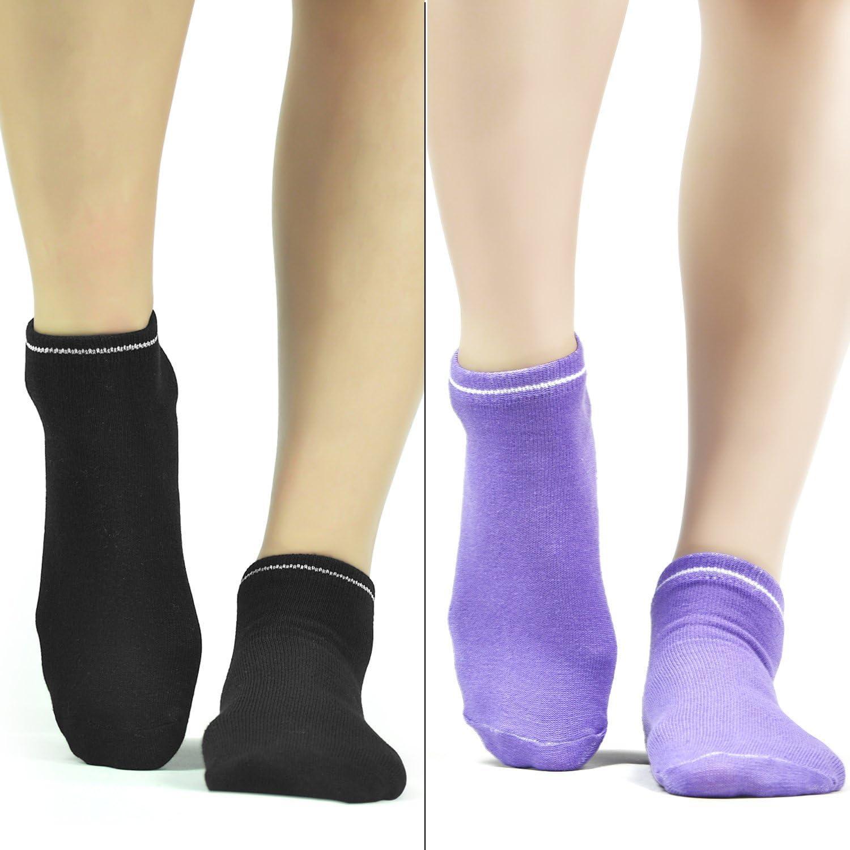 Ballet Pilates Barre Grippers Socks Elutong 4 Pack Yoga Non Skid Slipper Socks With Grips For Women