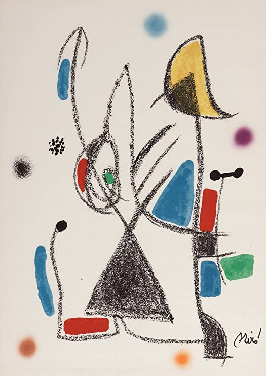 Joan Miro Woman moon starts Giclee Canvas Print Paintings Poster Reproduction