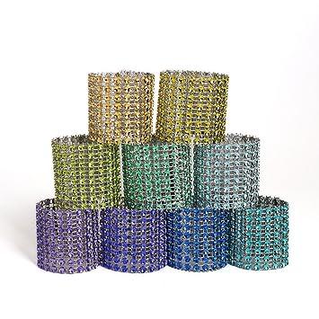 VORCOOL 5 unids Servilleteros de Anillos de Diamantes de Imitación Organizador de Servilleta de Toallas de Cena de Boda (Color Aleatorio): Amazon.es: Hogar