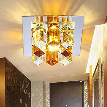 Cristal Lámpara de Techo Moderno Moda Diseño Claro Pantallas Focos de Techo LED Interior Decorativo Pared Iluminación Luz de Techo Luz de la Noche Escalera Pasillo Sala Comedor Balcón 3W Luz Calido: