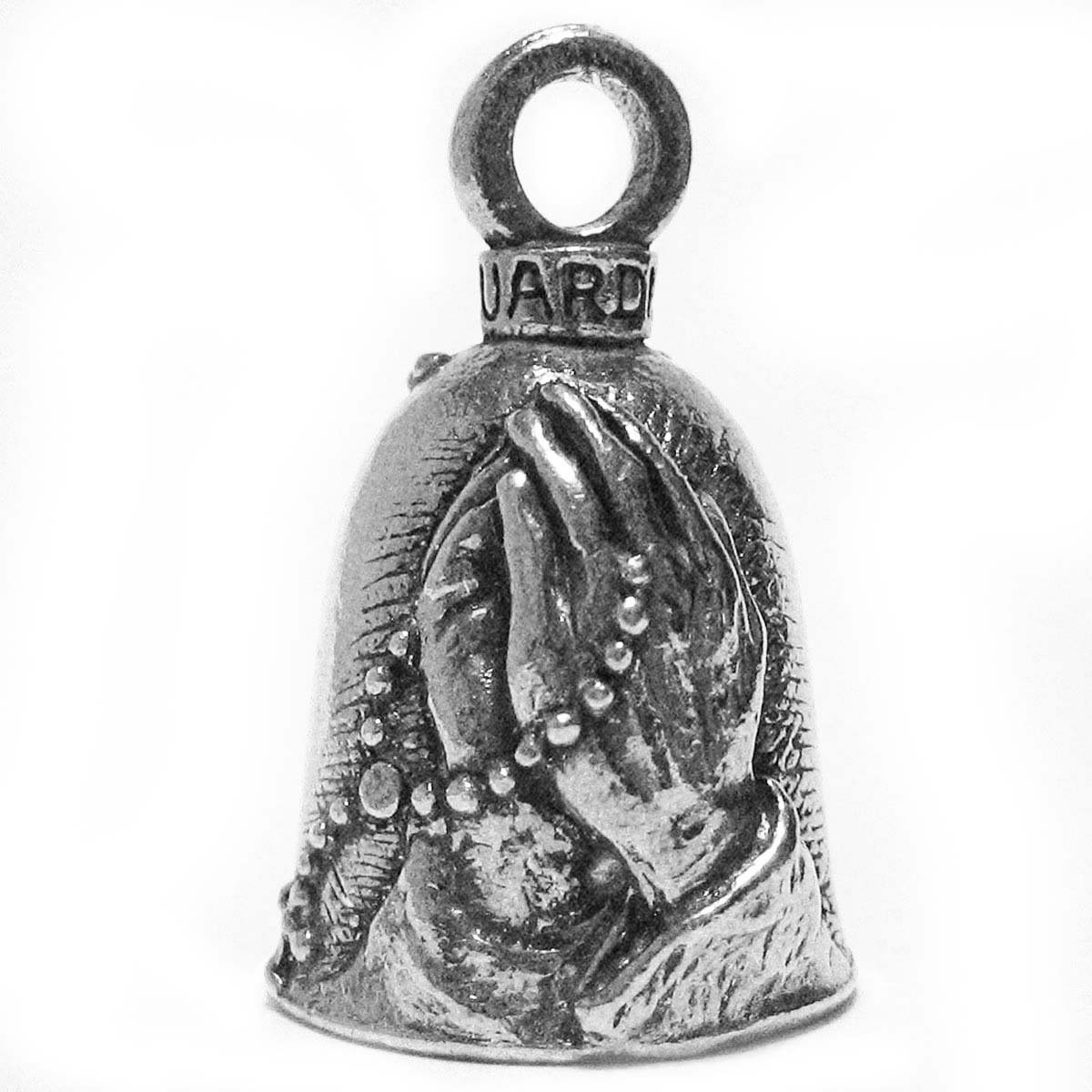 Guardian® Praying Hands with Rosary and Holy Cross Motorcycle Biker Luck Gremlin Riding Bell Guardian® Bell GBRSRY