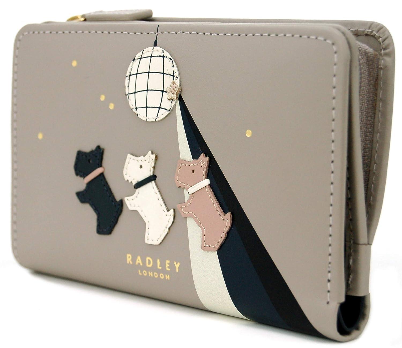 e2951ae0a Radley 'Don't Walk Dance' Ash Grey Leather Medium Zip Top Purse - RRP  £72.00: Amazon.co.uk: Luggage