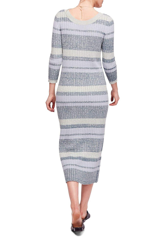 Free People Womens Cozy Up Knit V-Neck Midi Dress