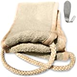 Back Scrubber Strap for Shower - Exfoliating Cloth Back Washer - Exfoliating Band Set - 4 x 32 Inches
