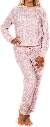 Paz Amor Y Moda Para Mujer 2 Piezas Juego De Pijama De Manga Larga Color Rosa Clothing